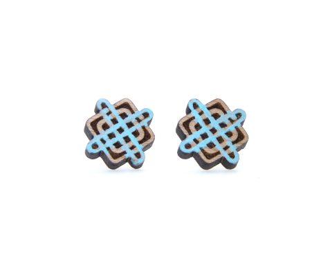 Celtic Knots Maple Wood Stud Earrings | Hand Painted