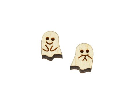 Ghost Mix Set A02 Engraved Wood Cabochons