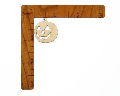 Jack O' Lantern A02 Blank Wood Drop Charms