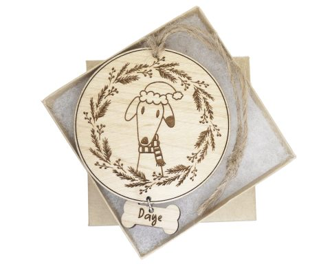 Dog Maple Wood Ornament | Customizable