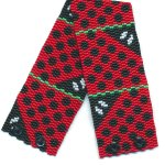 Abstract Ladybugs 2-Drop Peyote Seed Beaded Bracelet-Maddiethekat Designs