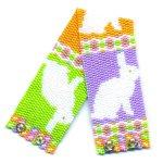 Bunny Rabbit 2-Drop Peyote Seed Beaded Bracelet-Maddiethekat Designs