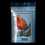 Cardinal on Spruce Tree Small Panel Peyote Seed Bead Pattern PDF or KIT DIY Bird-Maddiethekat Designs