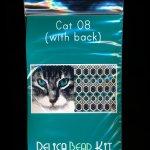 Cat 08 with Back Amulet Bag Peyote Seed Bead Pattern PDF or KIT DIY-Maddiethekat Designs