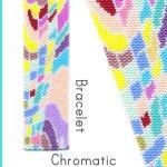Chromatic Wide Cuff Bracelet Delica 2-Drop Peyote Bead Pattern or KIT DIY-Maddiethekat Designs