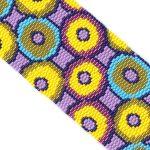 Circular Harmony 2-Drop Peyote Seed Bead Wide Cuff Bracelet-Maddiethekat Designs
