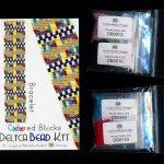 Colored Blocks Bracelet Delica 2-Drop Peyote Seed Bead Pattern or KIT DIY-Maddiethekat Designs