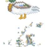 Drake Mallard Duck Beaded Pin