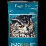 Eagle Owl Bird Larger Panel Peyote Seed Bead Pattern PDF or KIT DIY-Maddiethekat Designs