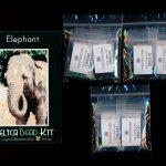 Elephant 01 Small Panel Peyote Bead Pattern PDF or KIT DIY-Maddiethekat Designs