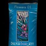 Flowers 01 Larger Panel Peyote Bead Pattern PDF or KIT DIY-Maddiethekat Designs