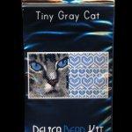 Gray Cat 01 Tiny Mini Amulet Bag Peyote Seed Bead Pattern PDF or KIT DIY-Maddiethekat Designs