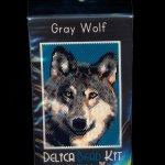 Gray Wolf Small Panel Peyote Pattern Bead PDF or KIT DIY-Maddiethekat Designs