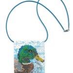Mallard Duck Tiny Mini Amulet Bag Peyote Seed Bead Pattern or KIT DIY Bird-Maddiethekat Designs
