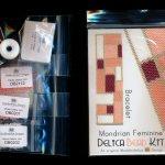 mondrian feminine wide cuff bracelet delica 2 drop peyote bead pattern or kit diy maddiethekat designs 2