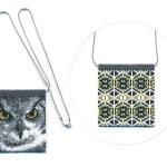 Owl 01 Tiny Mini Amulet Bag Peyote Bead Pattern PDF or KIT DIY Bird-Maddiethekat Designs