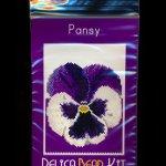 Pansy Flower Small Panel Peyote Bead Pattern PDF or KIT DIY-Maddiethekat Designs