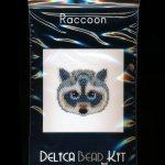 Raccoon Brick Stitch Seed Bead Pattern PDF or KIT DIY Racoon-Maddiethekat Designs