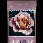 Rose 02 Small Panel Peyote Bead Pattern PDF or KIT DIY-Maddiethekat Designs