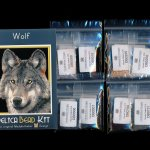 Wolf 01 Larger Panel Peyote Bead Pattern PDF or KIT DIY-Maddiethekat Designs