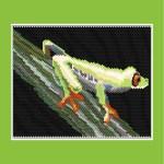 Tree Frog Larger Peyote Bead Pattern or Bead Kit