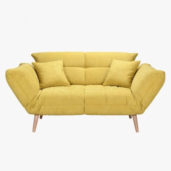canape convertible tao jaune grand confort