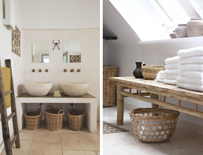 salle de bain nature