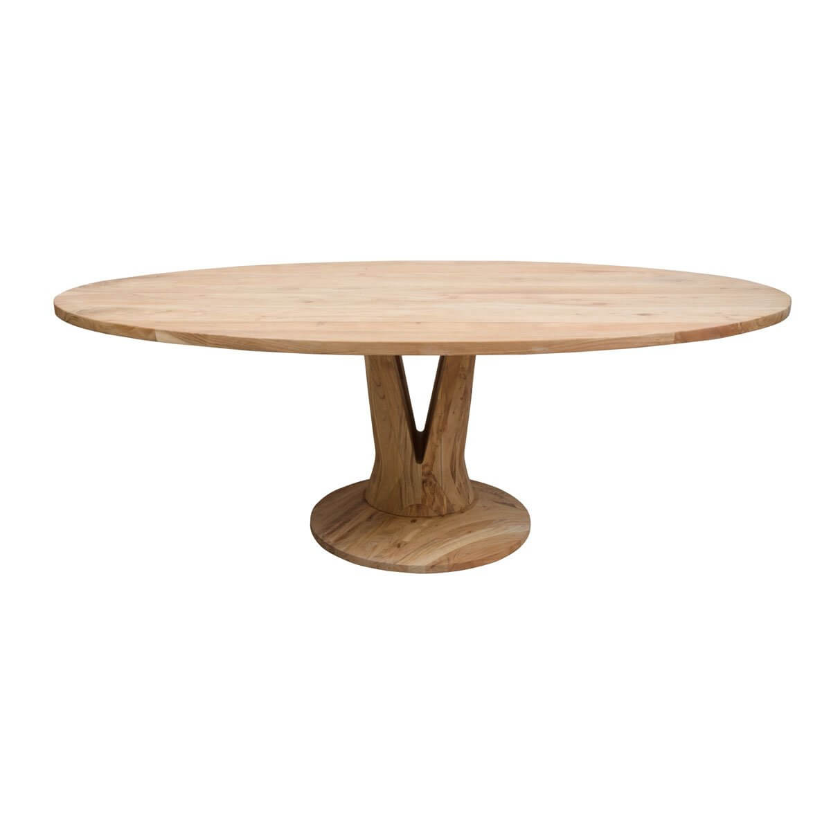 table ovale 220cm acacia pied central
