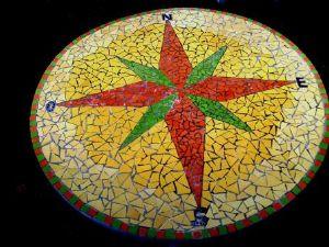 Table Rose Des Vents En Mosaique Modele Image En Mosaiques Table Rose Des Vents Made In Mosaic