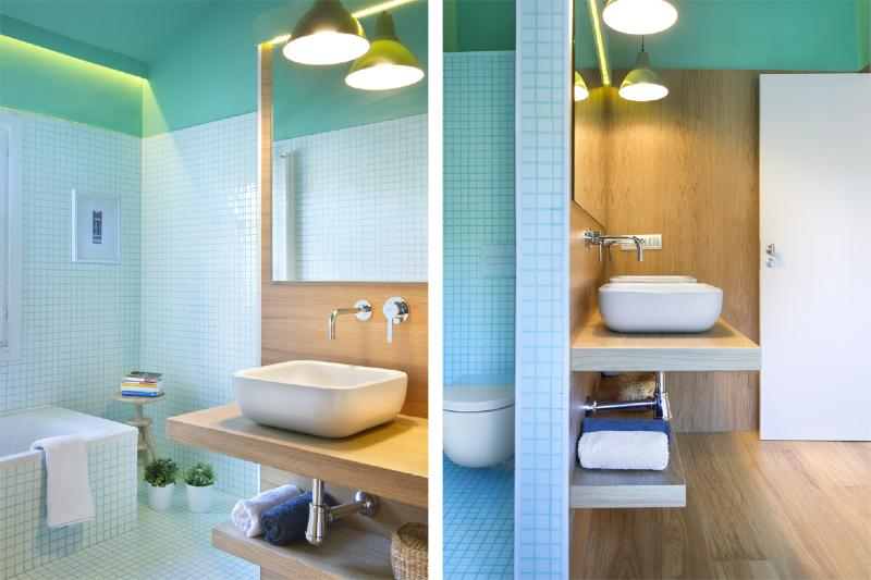 integrer mosaique dans la salle de bain
