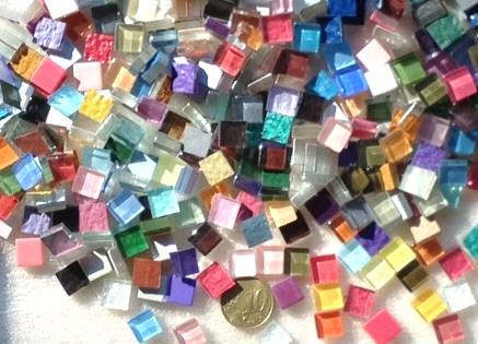 camaieu mix couleur brillant micro mosaique vetrocristal par 400 grammes
