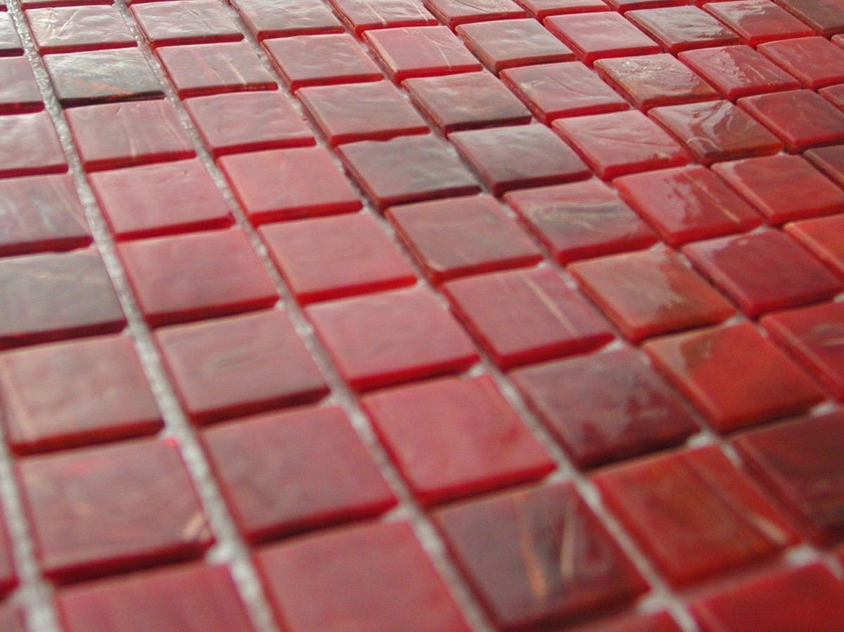 orange rouge flamme mosaique pate de verre gemmes par 25 carreaux