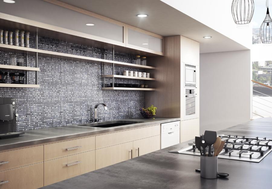 integrer mosaique dans la cuisine ou