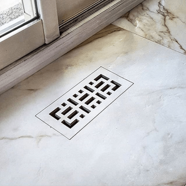 flush vent cover with pattern slots 4x10