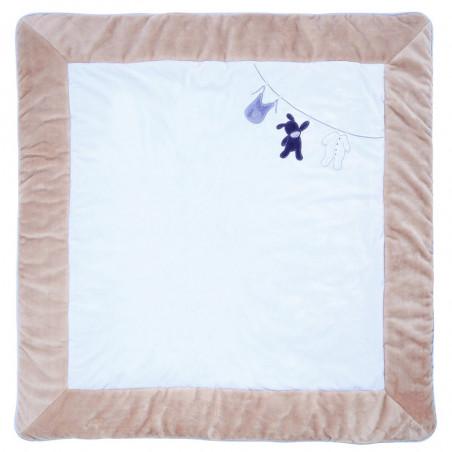tapis de parc 100x100 cm nattou alex bibou