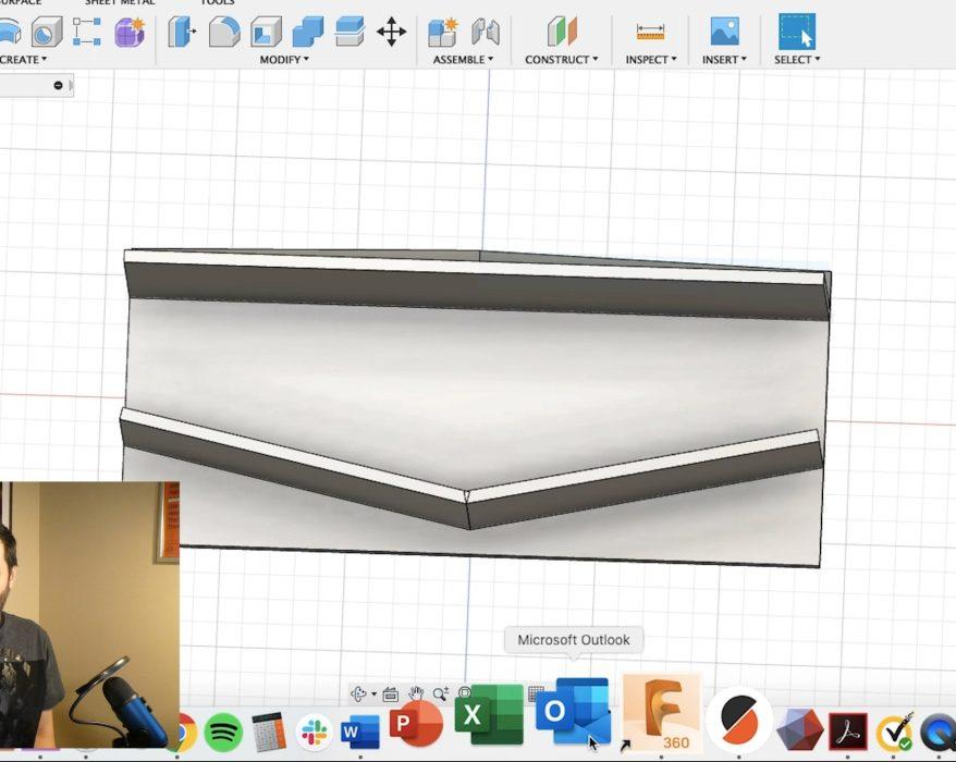 AP designing a jig in CAD