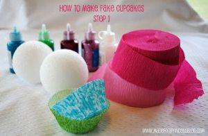 What I Made Monday: How to Make Fake Cupcakes