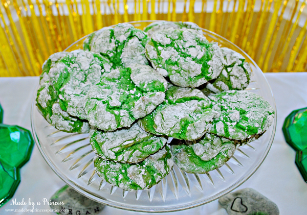 Kids St Patricks Day Party Ideas crinkle cake mix cookies