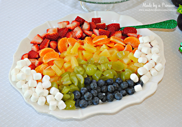 Kids St Patricks Day Party Ideas rainbow fruit platter
