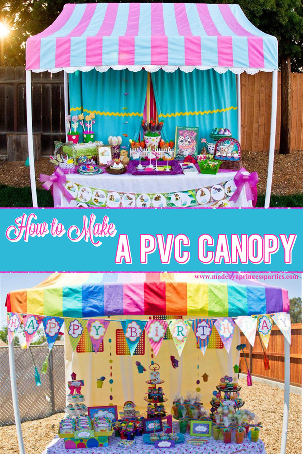How to Make a PVC Canopy can perfect for parties or boutiques