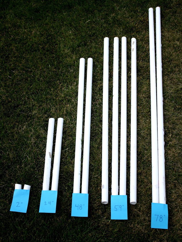How to Make a PVC Canopy have your local hardware store cut pvc pipe for you