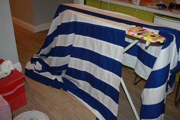 How to Make a PVC Canopy iron your fabric canopy