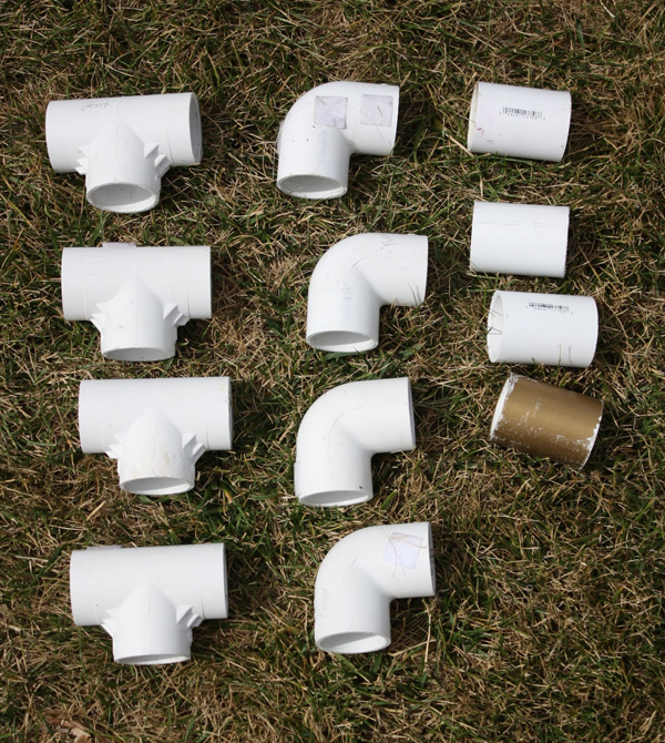 How to Make a PVC Canopy visual of what type of couplers to use