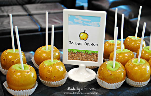 Ultimate Minecraft Birthday Party Food golden apples #minecraft #minecraftparty #minecraftbirthday #bestboyparty