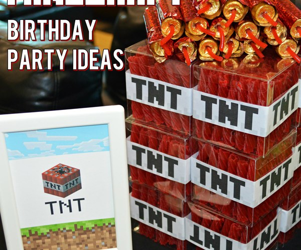 Ultimate Minecraft Birthday Party inspiration including free printables