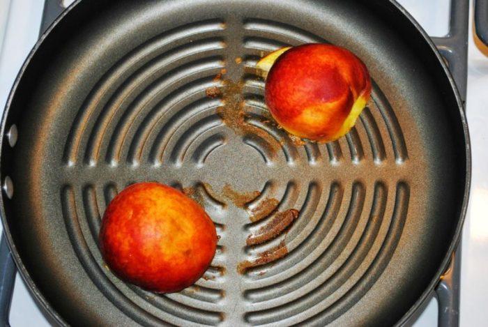 Yogurt and Granola Stuffed Peaches