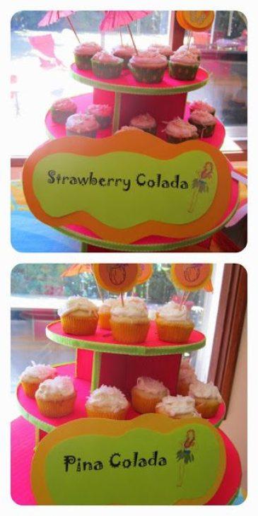 tiki-party-cupcakes