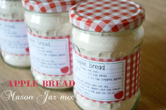 Apple Bread Mason Jar Mix