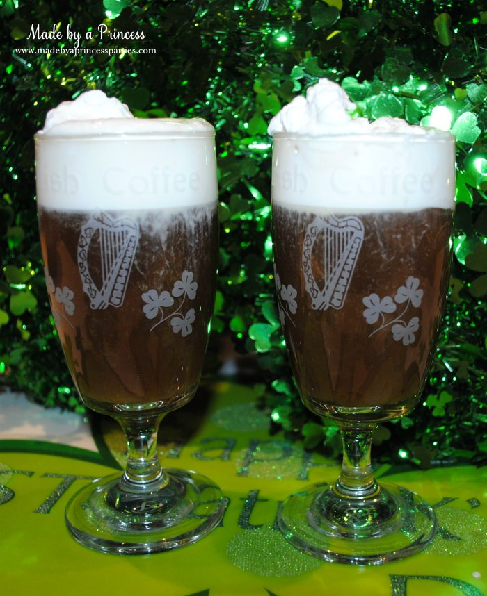 best irish coffee with fresh whipped cream drinks for two