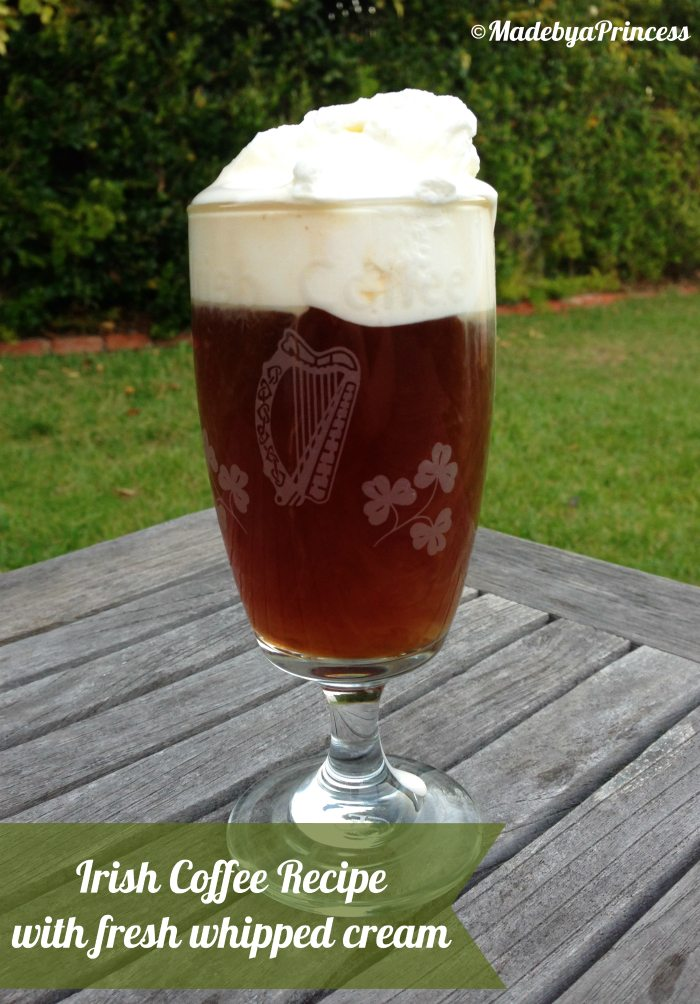 best irish coffee with fresh whipped cream
